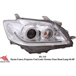 TOYOTA CAMRY XV-40 2006 - 2008 EAGLE EYES New Facelift Style Chrome Projector Head Lamp [HL-115-1]