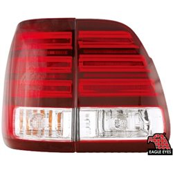 TOYOTA LAND CRUISER FJ100 1998 - 2005 EAGLE EYES Red Clear LED Tail Lamp [TL-100-1]
