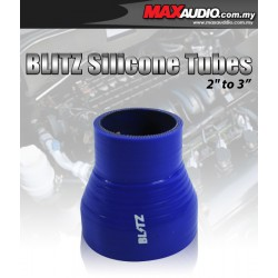 """BLITZ 2.75"""" To 3"""" 3 Layer Racing Silicone Straight Reducer Tubes"""