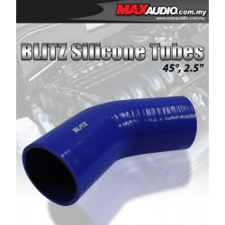 """BLITZ 45º Degree 3"""" Inch 3 Layer Racing Elbow Silicone Tubes"""