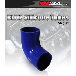 """BLITZ 90º Degree 2"""" Inch 3 Layer Racing Elbow Silicone Tubes"""