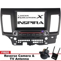 "MITSUBISHI LANCER GT/ PROTON INSPIRA DLAA 8"" Double Din GPS DVD MP3 CD USB SD BLUETOOTH TV Player Free Camera & TV"