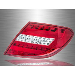 MERCEDES BENZ W204 C-CLASS 2007 - 2014 Red Clear LED Light Bar Tail Lamp Light [TL-060-1-BENZ]