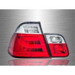 BMW E46 3-SERIES 4 Door 2002 - 2005 Red Clear LED Light Bar Tail Lamp Light [TL-034-BMW]