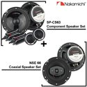 """2 in 1 - NAKAMICHI SP-CS63 6.5"""" 2-Way 320W Component Speaker + NSE 66 6.5"""" 2-Way 25W RMS 380W Coaxial Speaker Package Set"""