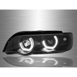 BMW X5 E53 1999 - 2006 LED 3D Angle Eyes Projector Head Lamp Light [HL-030-BMW]