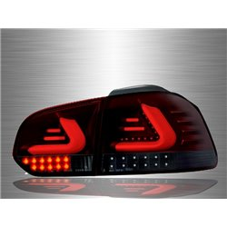 VOLKSWAGEN GOLF MK6 2008 - 2014 Red Smoke LED Light Bar Tail Lamp [TL-198-2]