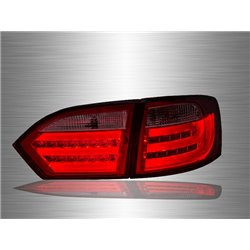 VOLKSWAGEN JETTA A6 2011 - 2017 Red Clear LED Light Bar Tail Lamp [TL-234]