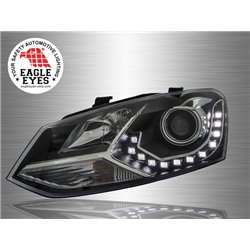 VOLKSWAGEN POLO MK5 2009 - 2017 EAGLE EYES LED DRL Projector Head Lamp [HL-147]