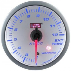 AUTOGAUGE 60mm Blue Racer (White Face) Exhaust Temp Meter [522]