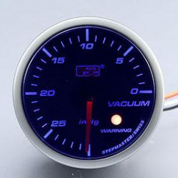 AUTOGAUGE 60mm Blue Racer (Black Face) Vacuum Meter [282]