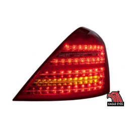 EAGLE EYES MERCEDES BENZ S CLASS W221 '07-'10 RED/CLEAR TAIL LAMP[TL-030-BENZ-1]