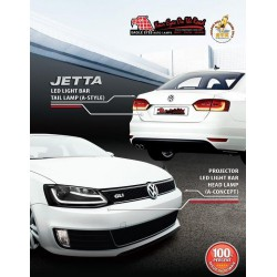 VOLKSWAGEN JETTA: EAGLE EYES CGI Bar Head Lamp + Light Bar Tail Lamp