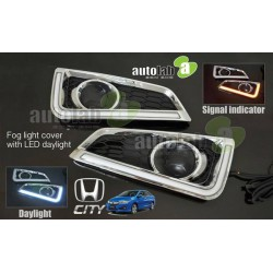 HONDA CITY 2014 - 2015 3 in 1 LED Day Time Running Light DRL + Signal + Auto On Fog Lamp Cover