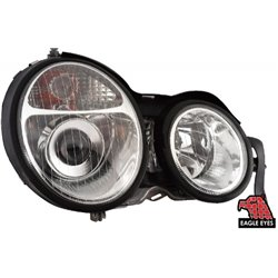 MERCEDES BENZ W210 E-Class 1999 - 2001: EAGLE EYES Chrome Projector Head Lamp [HL-003-BENZ]