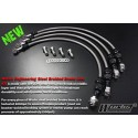WORKS ENGINEERING U.S.A Stainless Steel Braided Brake Hose Kit