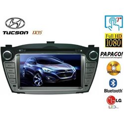 "HYUNDAI TUCSON IX35 2010 - 2015 DLAA 8"" Double Din DVD VCD DIVX MP3 BLUETOOTH USB SD CD Player with GPS Free Camera & TV Antenna"