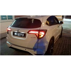 HONDA HRV, VEZEL, XRV 2015 - 2016 EAGLE EYES Full Smoke Light Bar LED Tail Lamp