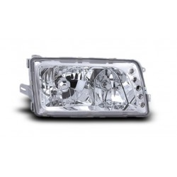 EAGLE EYES MERCEDES-BENZ S-W126 '86 - '91 CHROME Crystal Head Lamp + Corner Lamp [HL-019-BENZ]